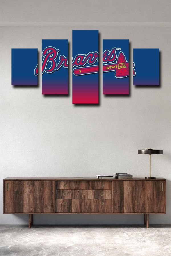 Atlanta Braves Gradual Change Symbol In 2020 Canvas Art Wall Decor Wall Art Canvas Prints Canvas Wall Art