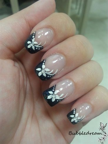 formal black and white by bubbledream from Nail Art Gallery