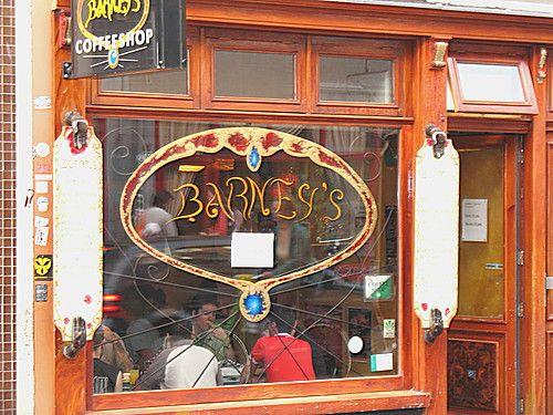 Barney's Coffeeshop Amsterdam. Amazing service but not enough seats. Amazing menu though!! :)