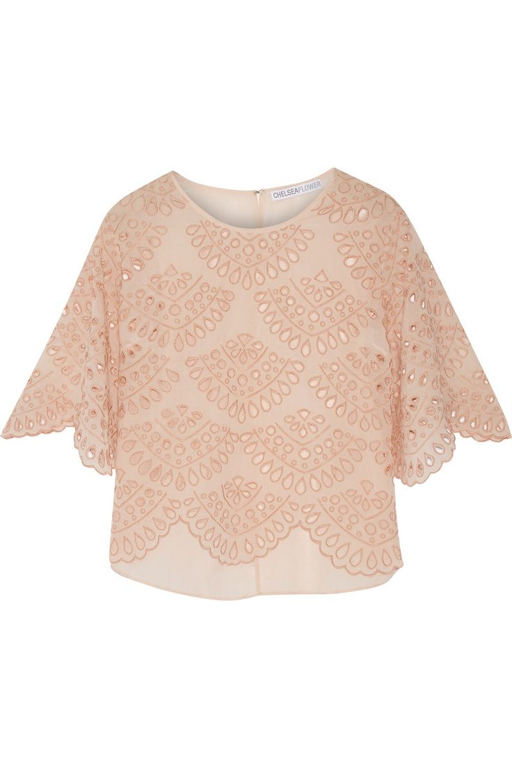 CHELSEA FLOWER Abella broderie anglaise cotton-blend top $120.05 http://www.theoutnet.com/products/665502