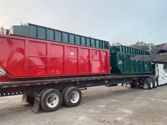 The Dimensions Of A 30 Cubic Yard Dumpster Are Usually 22 Feet Long By 7 5 Feet Wide By 6 Feet Tall The Higher Walls On This Si In 2020 High Walls Dumpsters Red Green