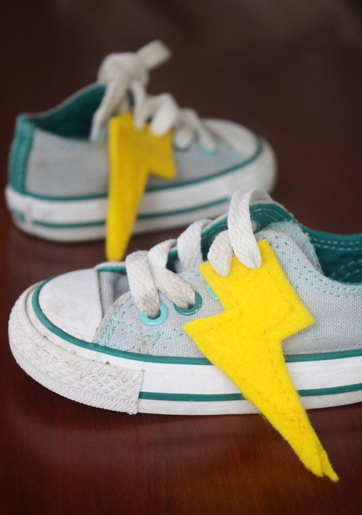 diy lightning fast super hero shoes. Eye power kids wear