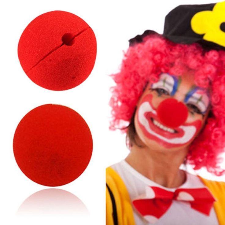 Red Circus Clown Magic Nose Halloween Masquerade Party Costume Accessory