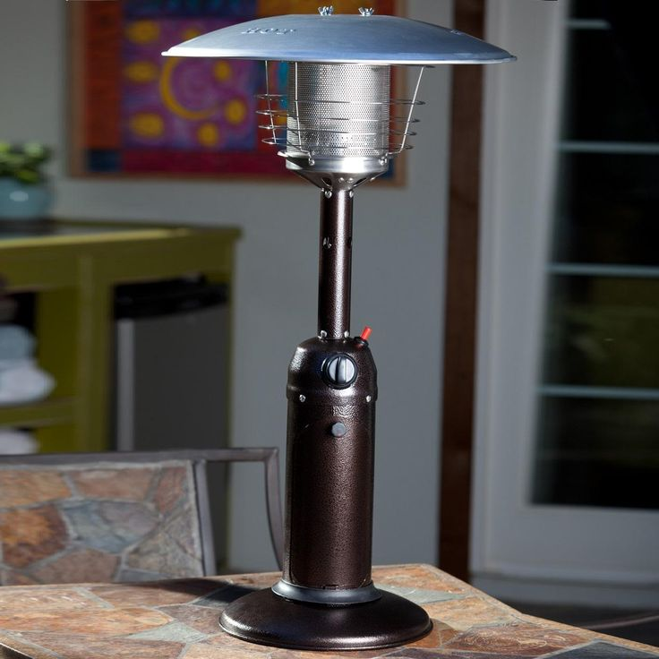 Fire Sense 10000 BTU Propane Gas Tabletop Patio Heater   Hammered Bronze    61322 Available At