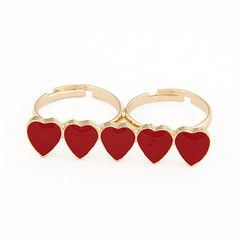 Hearts Stack Double Ring (Red), S$ 6.00 from fourtwelve.com.sg