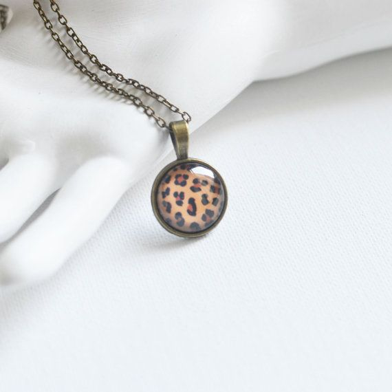 ANIMAL PRINT Pendant metal brass depicting by OhKsushop on Etsy