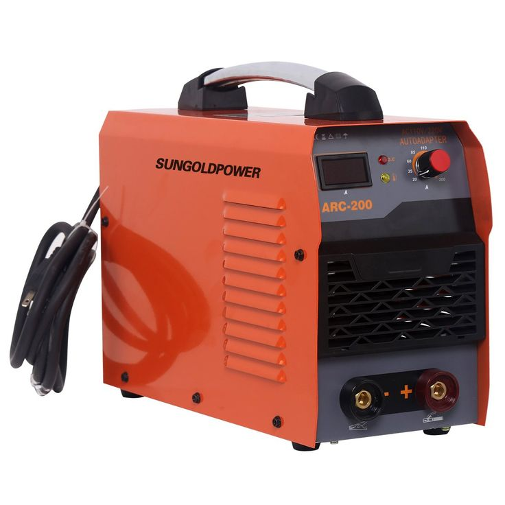 SUNGOLDPOWER 200A ARC MMA IGBT Digital Display LCD Hot Start Welding Machine DC Inverter Welder 200 AMP Rod Anti-Stick Dual 110V And 220V, Complete Package, Ready to Use!