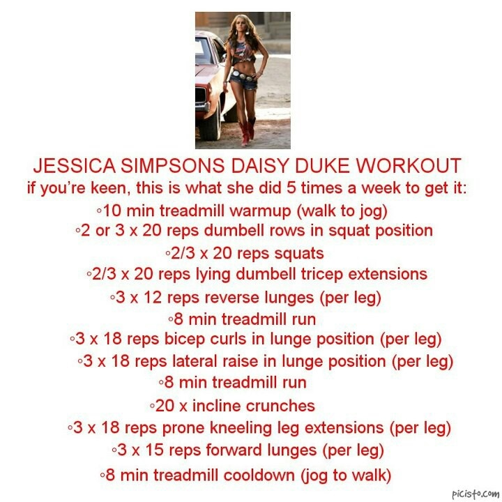 Jessica Simpson Daisy Duke work out! Is it bad that this is how I wanna look? Haha