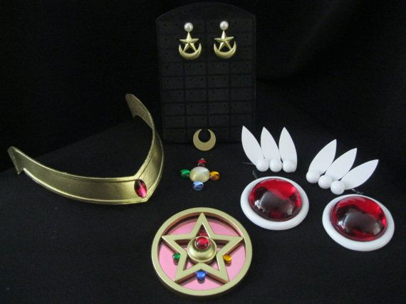 Sailor Moon R cosplay accessory set MANGA by UniqueCosplayProps, $81.00