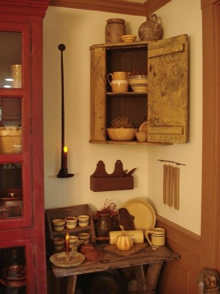 love the corner cabinet...