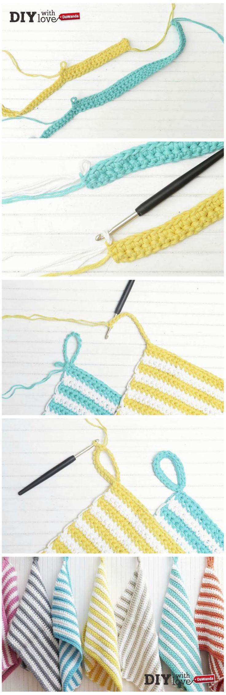 Tovagliette da colazione da appendere: un progetto #crochet perfetto per un regalo #handmade!