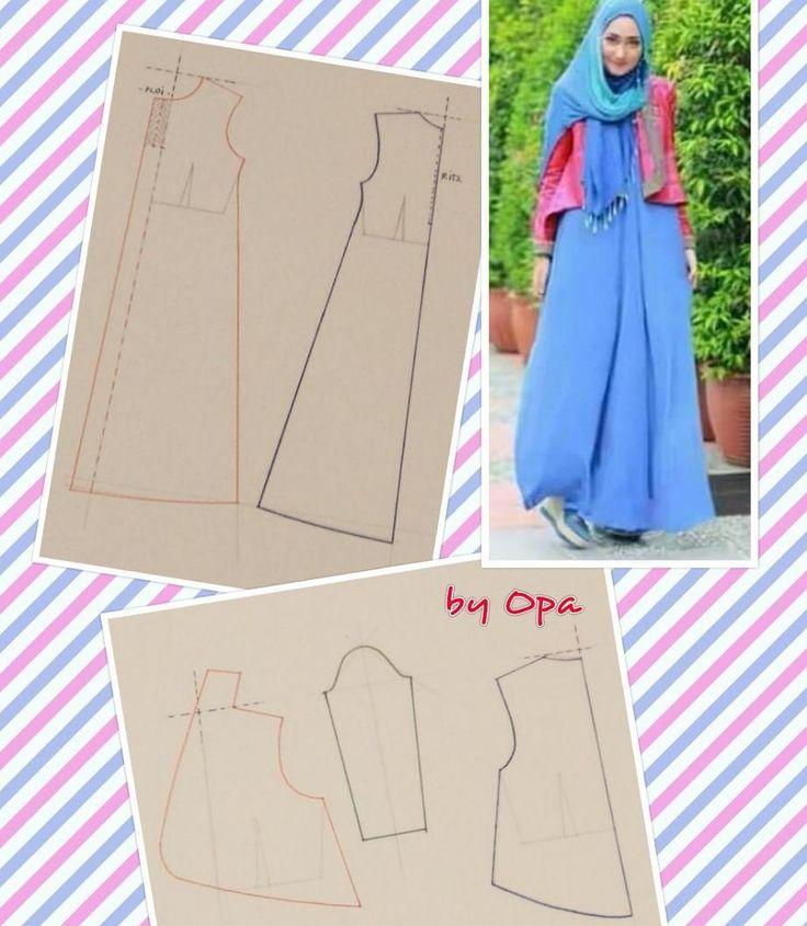 #pattern #fashionpattern #sewpattern #sewing #pecahpola #polabaju #poladress #dresspattern #pomobaki