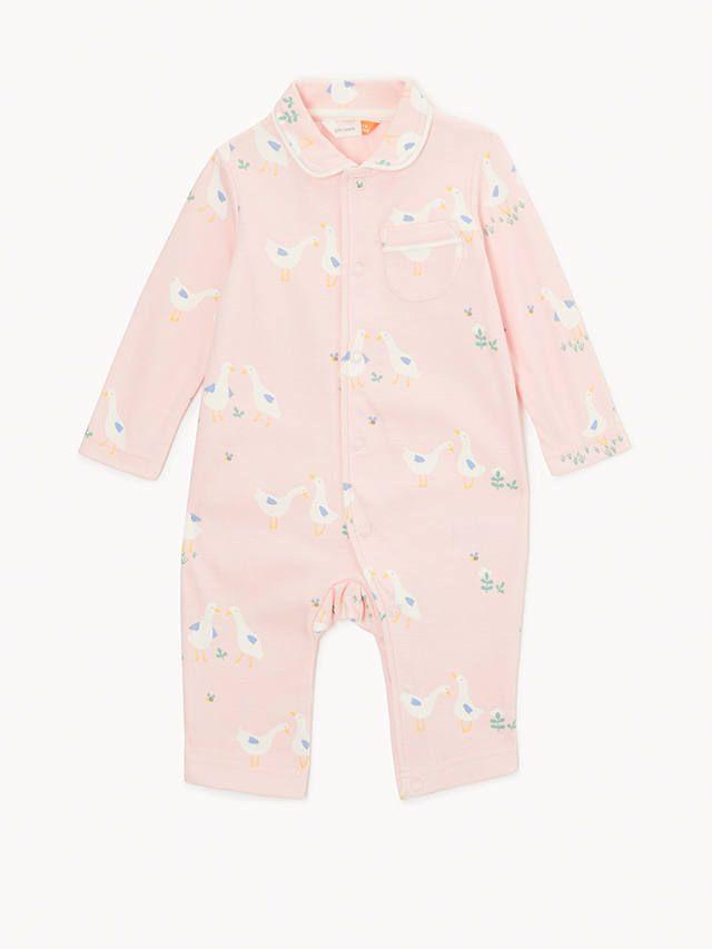 e0398d988db9 BuyJohn Lewis   Partners Baby GOTS Organic Cotton Duck Print Collar ...