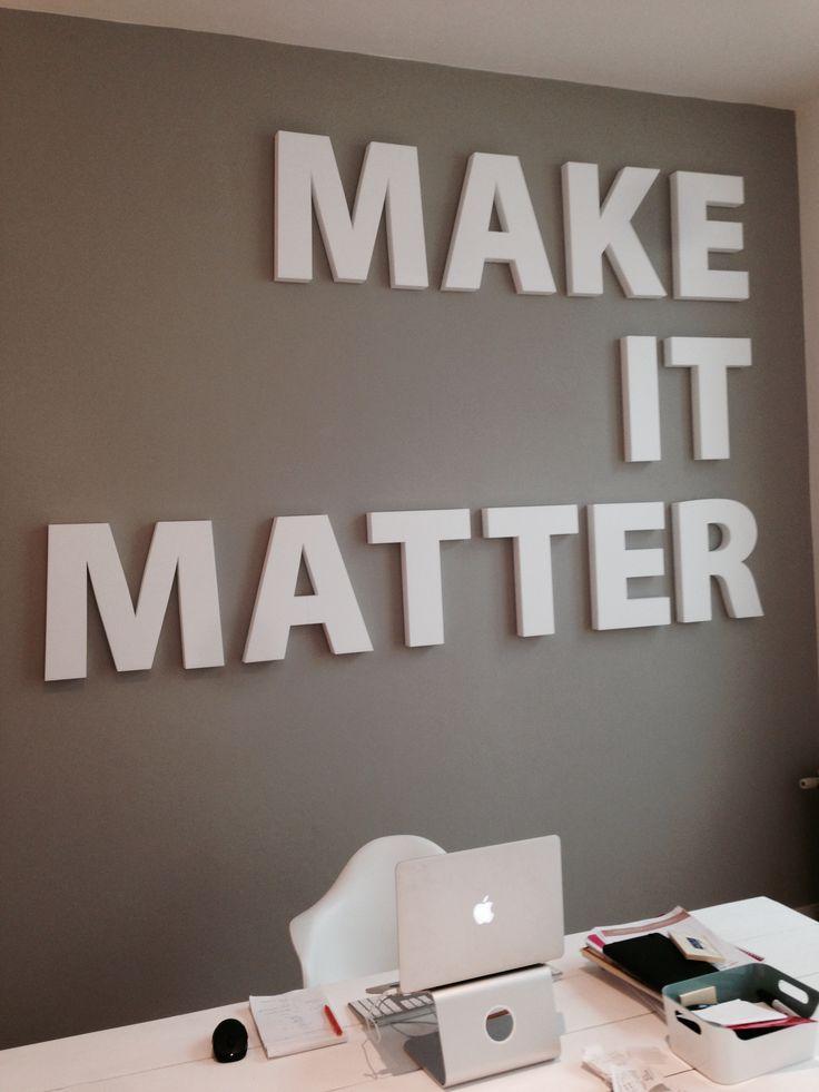 muur, inspiratie, kantoor, werkruimte, tekst, quote