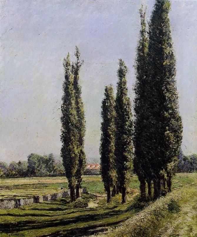 Gustave CAILLEBOTTE «Peupliers sur la digue d'Argenteuil»