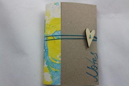 Little notebooks with lines,handmade,long stich bookbinding,marbled paper smells like Greek Summer. Μικρό χειροποίητο σημειωματάριο, θυμίζει καλοκαίρι