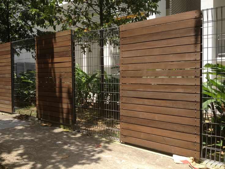 Timber slats wire mesh fencing sdhb gold pinterest