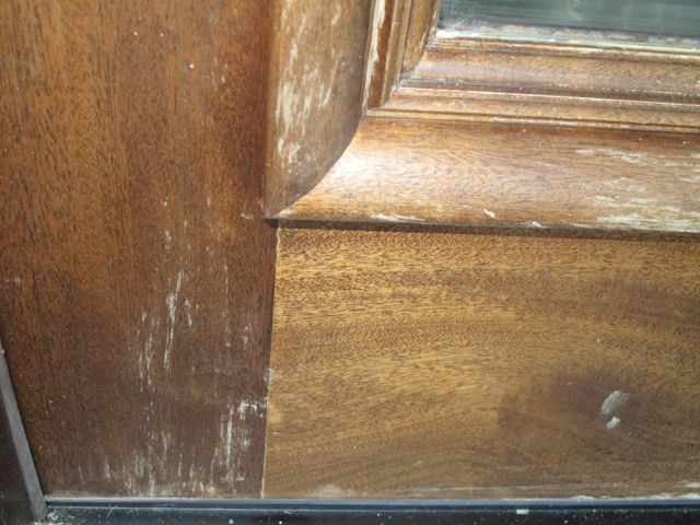 The Finish on a Beautiful Natural Mahogany Door goes bad… Anyone that has a natural wood door has had the experience of noticing that, wherever the sun strikes the door, the clear varnish that made…