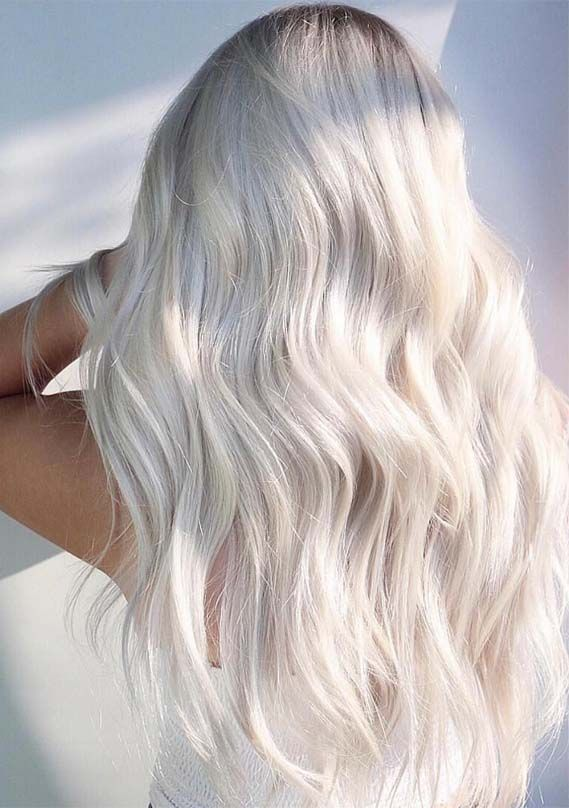 43 Bright Ice Blonde Hair Color Ideas
