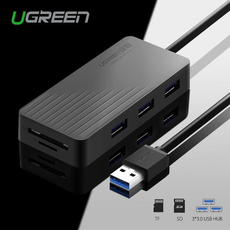 Ugreen alle in een usb hub hoge snelheid 3 poorten usb 3.0 HUB met TF/Sd-kaartlezer 1 m Kabel voor MacBook Laptop PC