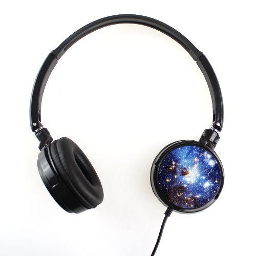 Blue Galaxy Headphones