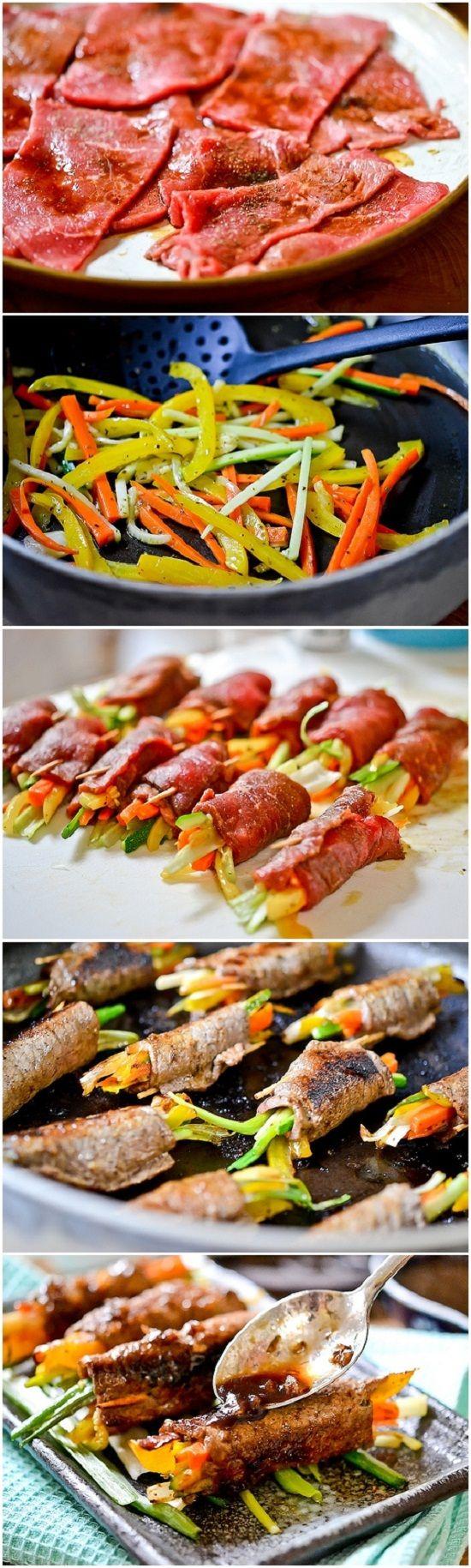 Balsamic Glazed Steak Rolls - Imgur