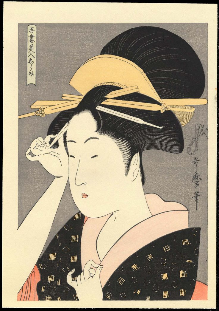 kitagawa utamaro | Woodblock Prints For Sale- Kitagawa Utamaro - Showa Era Reproductions ...