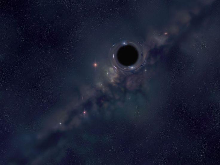 Black hole (as seen by Hubble telescope)