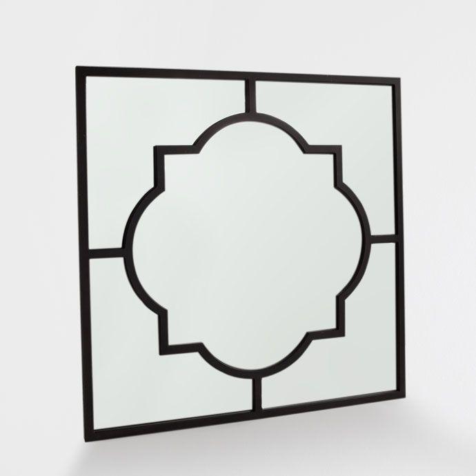 BLACK METALLIC-STRUCTURE MIRROR - Mirrors - Decoration | Zara Home United…