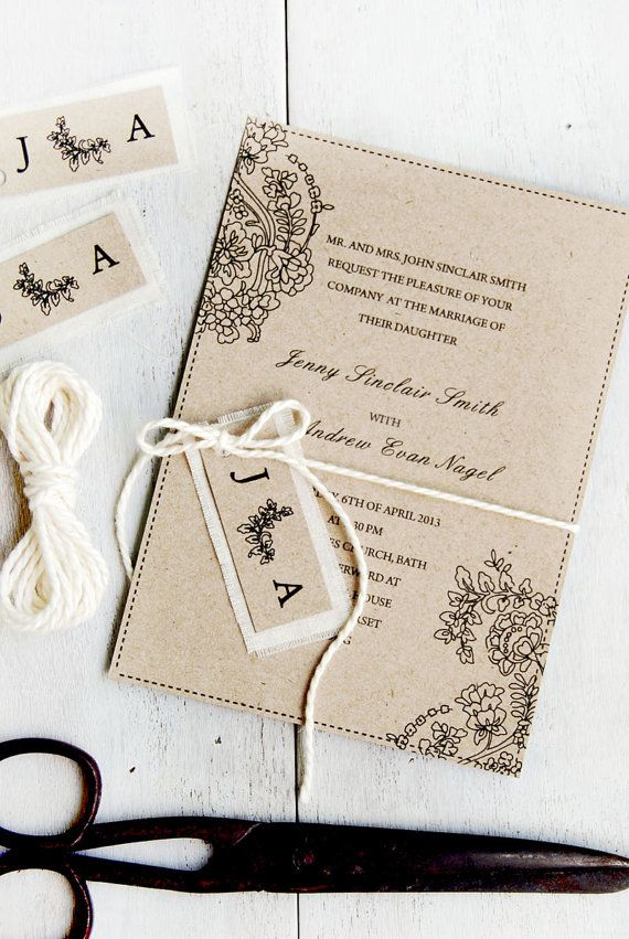 Romantic Classic Wedding Invitation DIY Digital by TheDIYStore, $19.95