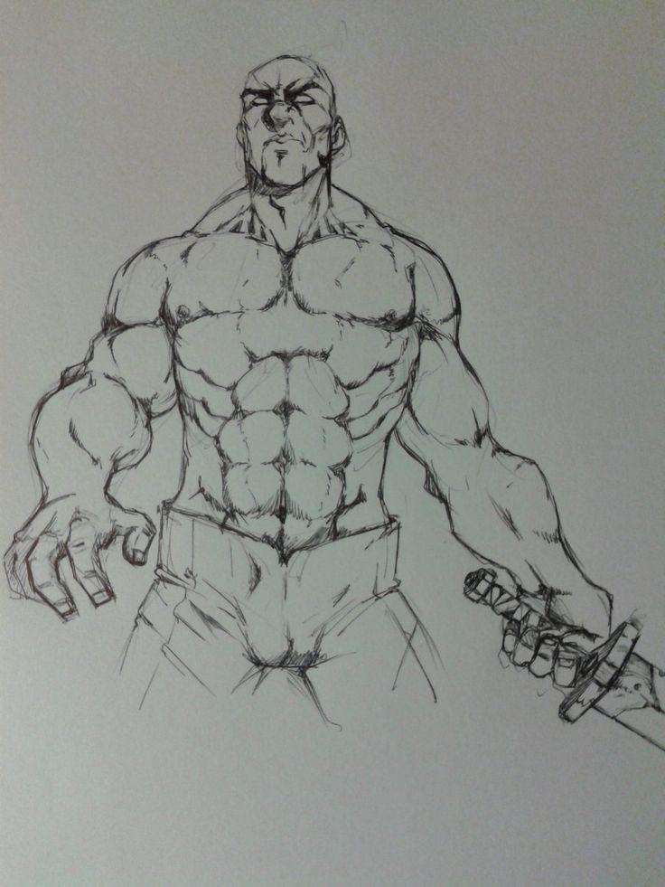 personaje musculoso by reyolvidado.deviantart.com on @DeviantArt