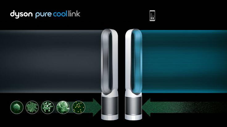 ダイソン ピュア クール リンク 空気清浄機能付ファン - 他の空気清浄機とは違い、微細なPM 0.1レベルまで99.95%除去。