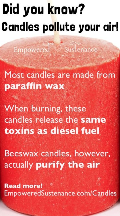 Why to avoid regular candles at all costs, plus how beeswax candles actually purify the air