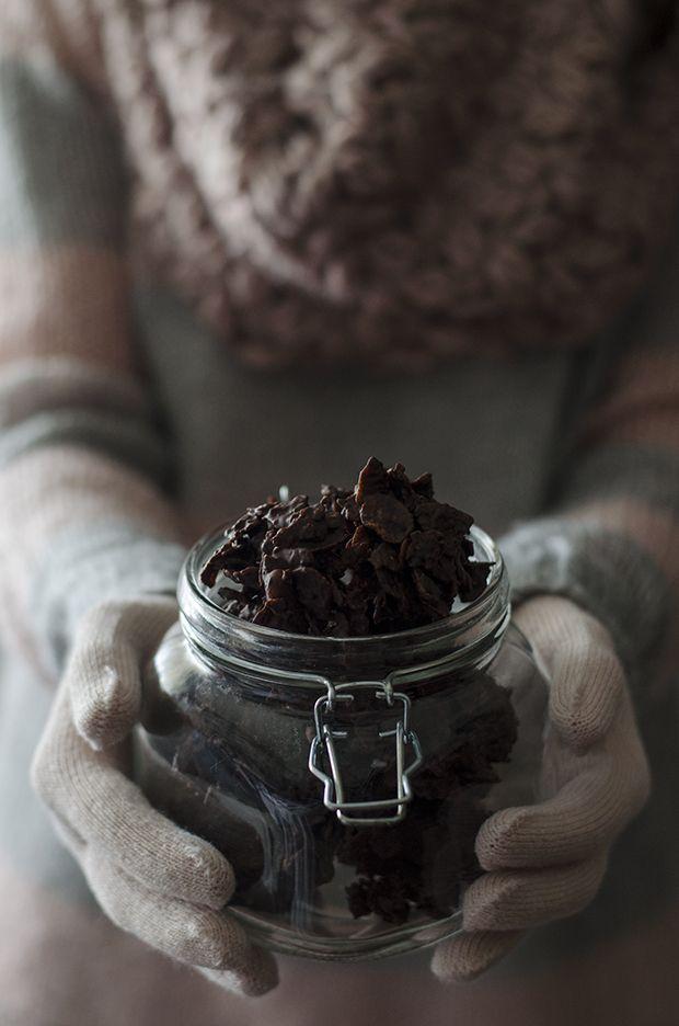 Ananás e Hortelã: Crocantes de Chocolate e Amendoim