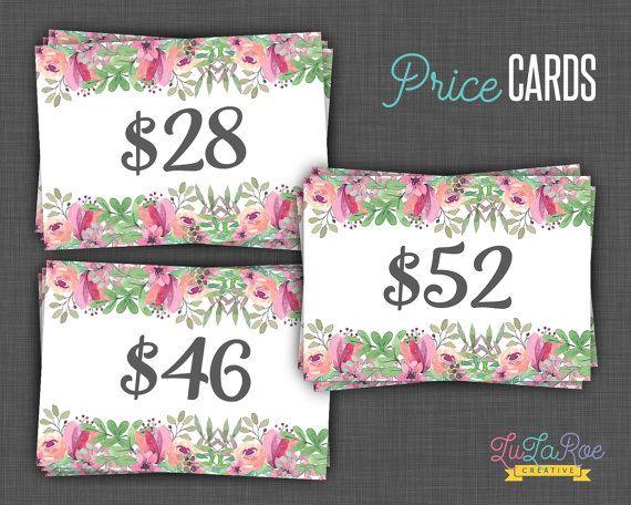 Lularoe Price Cards Floral Lularoe Price Price by LuLaRoeCreative