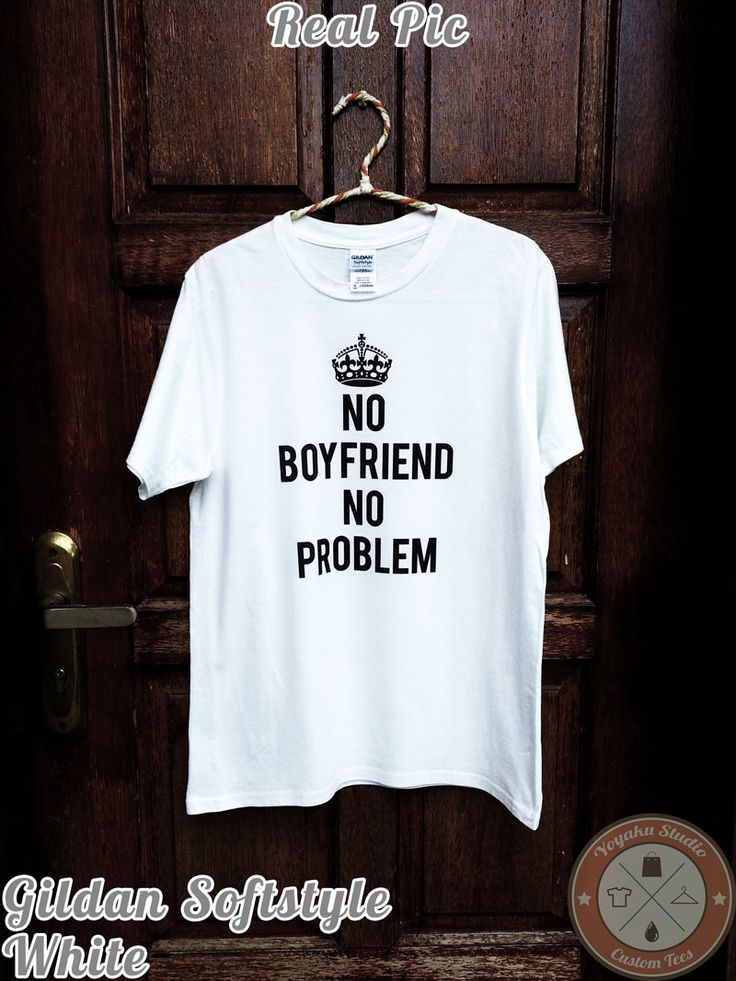 Jual Tumblr Tee No Boyfriend No Problem - Yoyaku Shop | Tokopedia