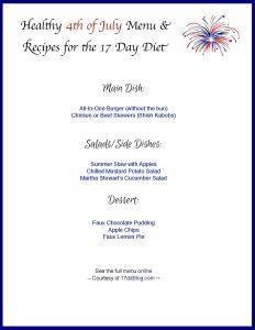 free 4th of july menu templates
