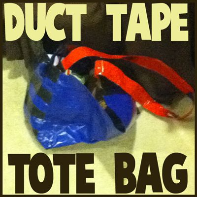 400x400 duct tape bag step How to Make Duct Tape Tote Bags with Easy Steps Crafts Tutorial for Kids