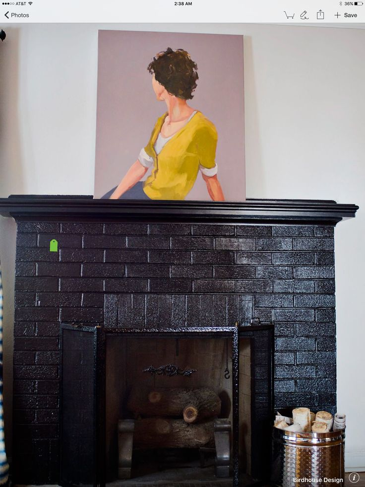 Pin By Caroline Decesare On Fireplaces Painted Brick Fireplaces