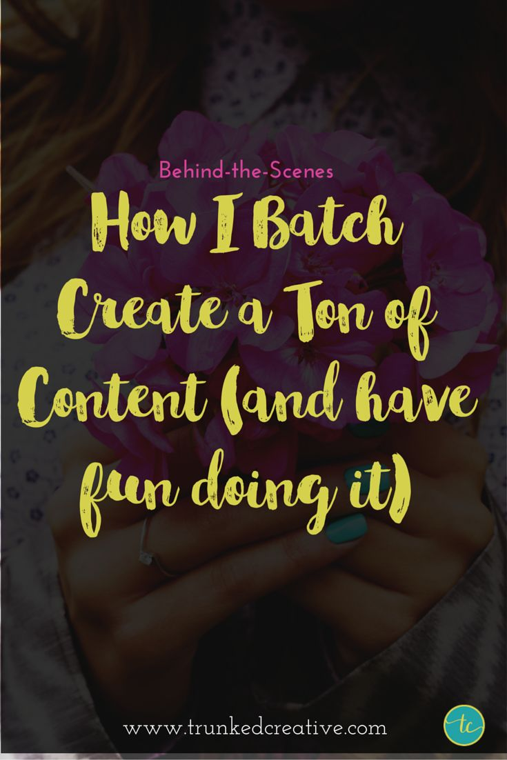 Behind-the-Scenes: My Content Batching Process (And a free worksheet)