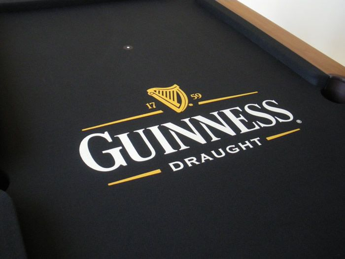 a recent iq pool table installation project this example in guinness design cloth