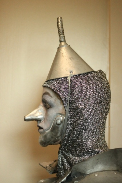 Shiny Tin Man! awesome profile for tin man head piece and make-up applicance for a tin man costume for Wizard of oz themed costume or outfit.