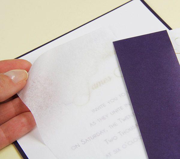 Paper Tissue Weddingvitations