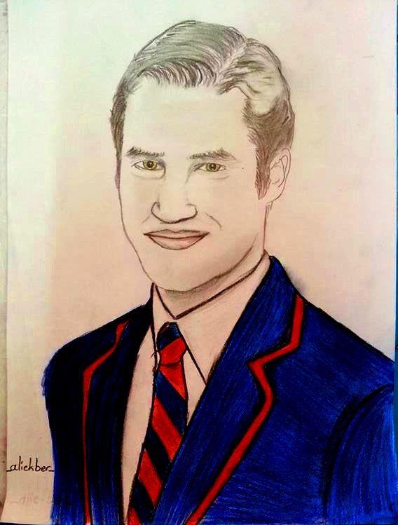 #DarrenCriss #BlaineAnderson #Klaine #Draw #ColoredPencil #Glee #Gleeks #Fanart #art