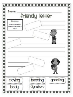 I Would Use This Worksheet To Introduce Our Friendly Letter Unit