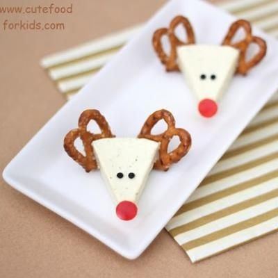 @Jenn L Milsaps L Murray  FOR QUINNY AND HER CHEESE   Reindeer Cheese Appetizer {Christmas Party Food}