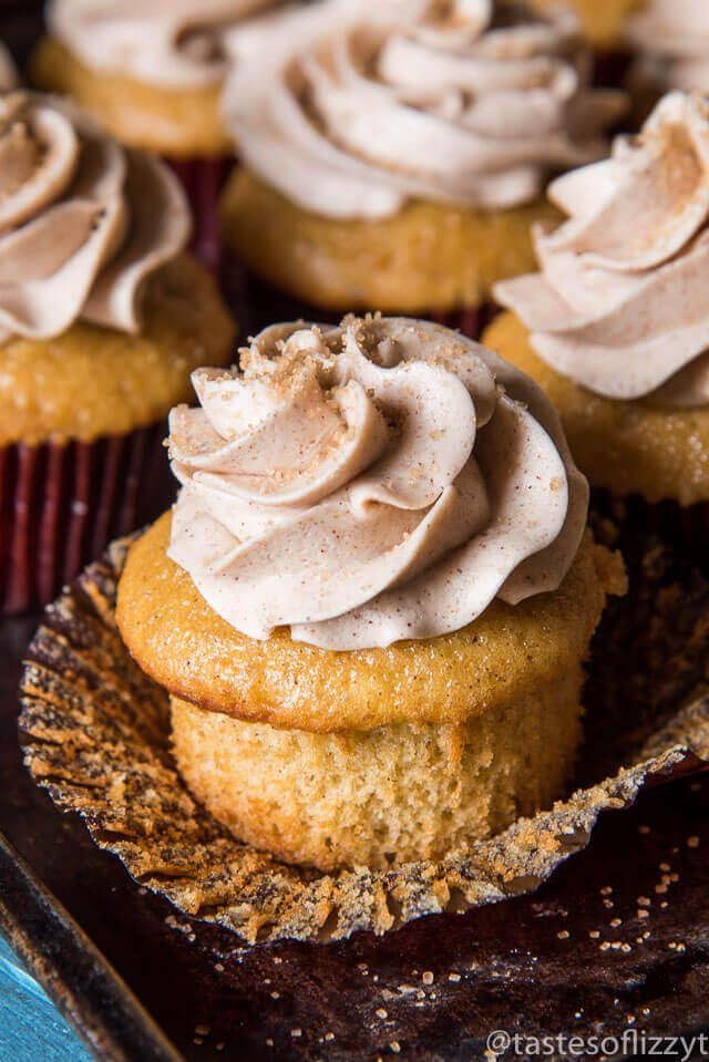 Start with a box cake mix and end up with soft, fluffy, custom cinnamon cupcakes swirled with homemade cinnamon buttercream. Simple ingredients with an amazing flavor.