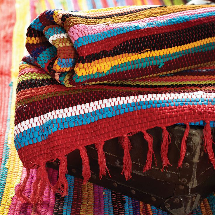 Rag Rugs Indian: Fair Trade Handwoven Recycled Rag Rugs Indian Carpet