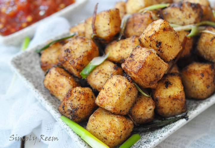 With a squeeze of lime, maybe? // Crispy salt and pepper tofu