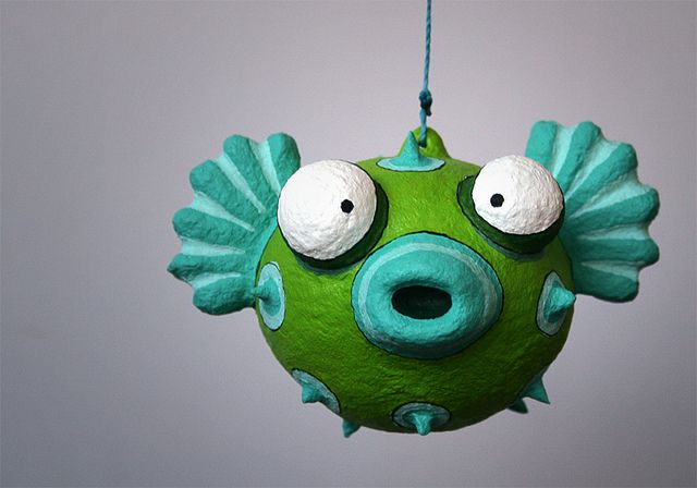 papel mache - Pufferfish